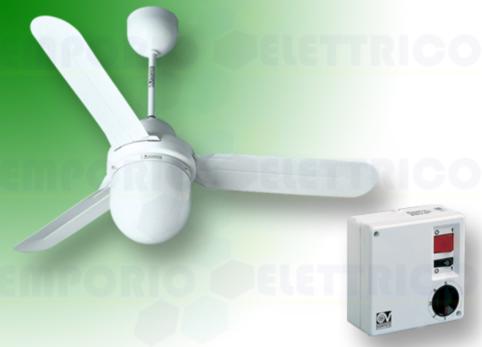 vortice kit ventilatore soffitto nordik design is/l 90/36 bianco 61001 ev61001a