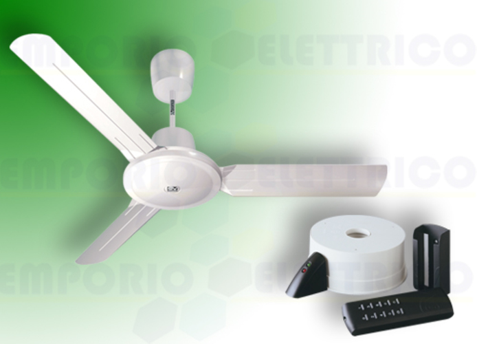 vortice white ceiling fan kit nordik evolution r 140/56 61752 ev61752b