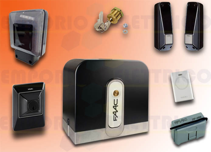 faac kit automazione rapid (ex cyclo) 24v dc 800 kg safe&green 105083fr