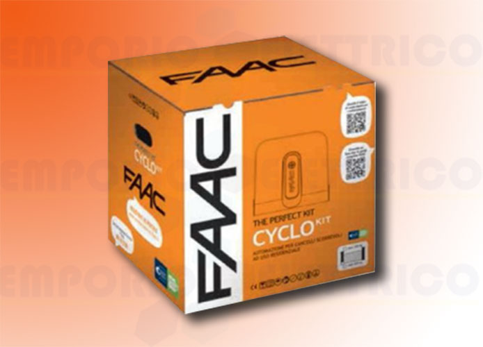 faac kit automazione 24v dc 400 kg cyclo/rapid kit perfect 105916fr