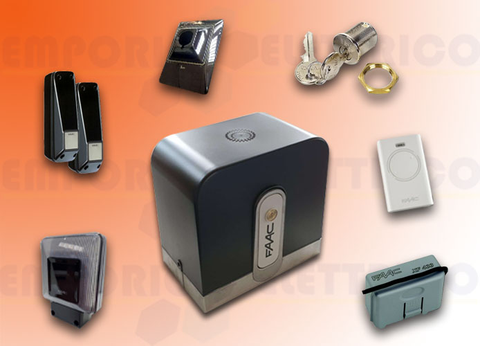 faac kit automazione rapid (ex cyclo) 24v dc safe&green 1059995fr